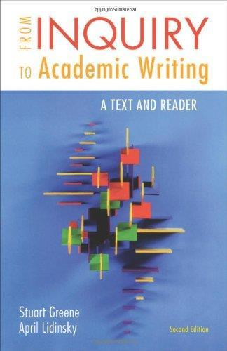 download From Inquiry to Academic Writing: A Text and Reader ,2nd edition