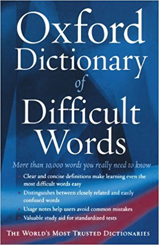 download The Oxford Dictionary of Difficult Words
