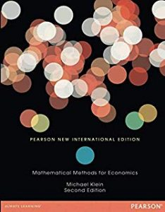 Download: Mathematical Methods for Economics, 2nd edition