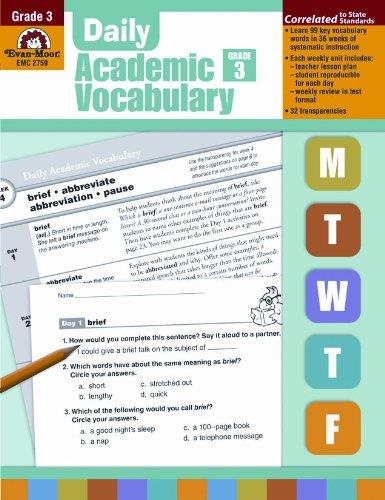 download Daily Academic Vocabulary, Grade 3