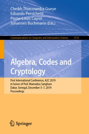 Algebra, Codes and Cryptology