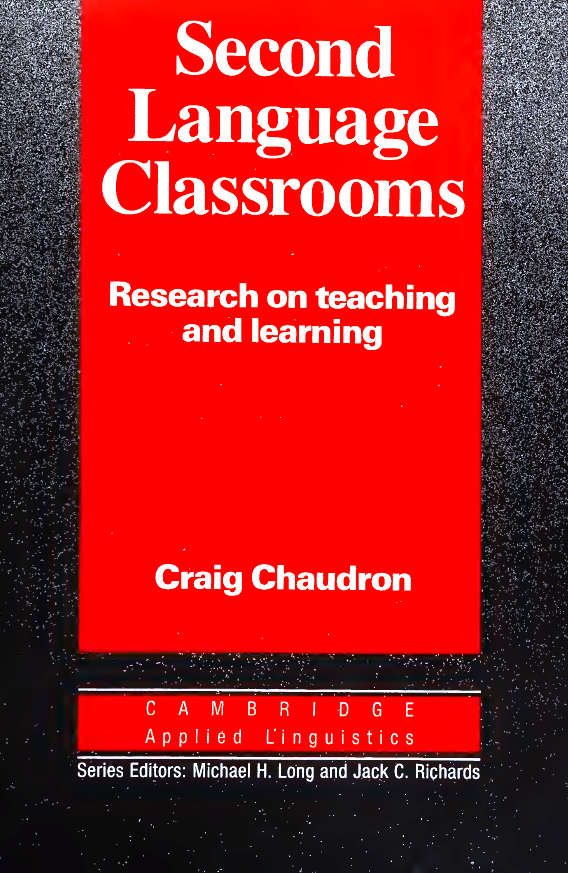 Second-Language-Classrooms-Research-on-Teaching-and-Learning Second Language Classrooms: Research on Teaching and Learning