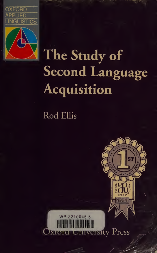 The-Study-of-Second-Language-Acquisition The Study of Second Language Acquisition